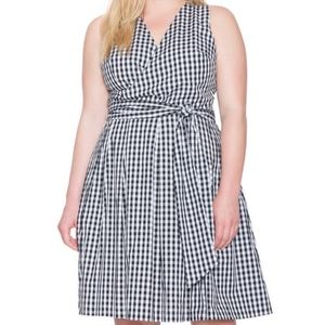 Eloquii Black/White Gingham Dress Sz 20